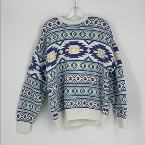 Claiborne 100% Cotton Long Sleeve Sweater Size XL